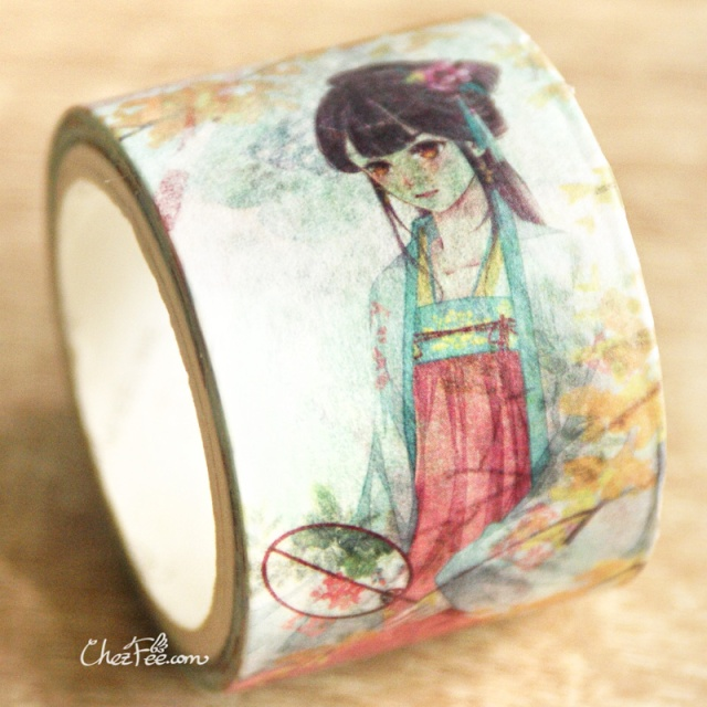 joli masking tape washi tape motif traditionnel hanfu vetement chinois - boutique kawaii chezfee